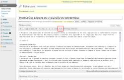 INSTRUÇÕES BÁSICAS DE UTILIZAÇÃO DO WORDPRESS Saiba Mais Comando More